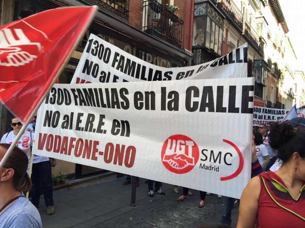 No al ERE de Vodafone, No a 1300 familias sin trabajo.