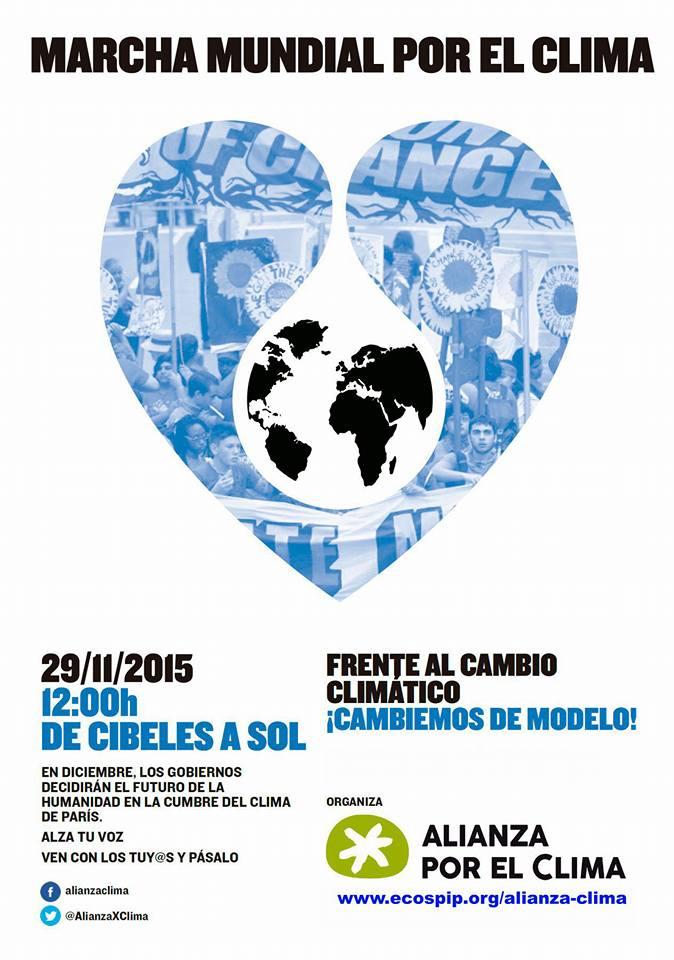 29 de noviembre a las 12 h. Marcha Mundial por el Clima