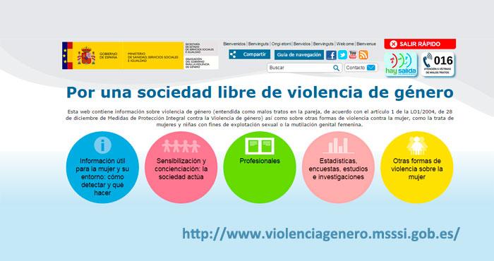 Todos los recursos e información en la nueva web sobre violencia de género.