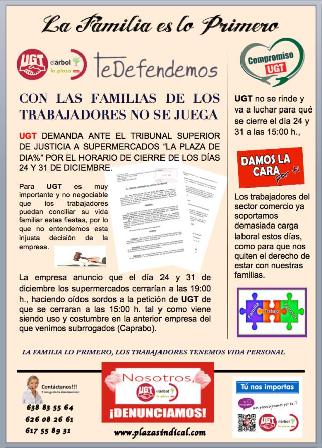 CON LAS FAMILIAS DE LOS TRABAJADORES NO SE JUEGA