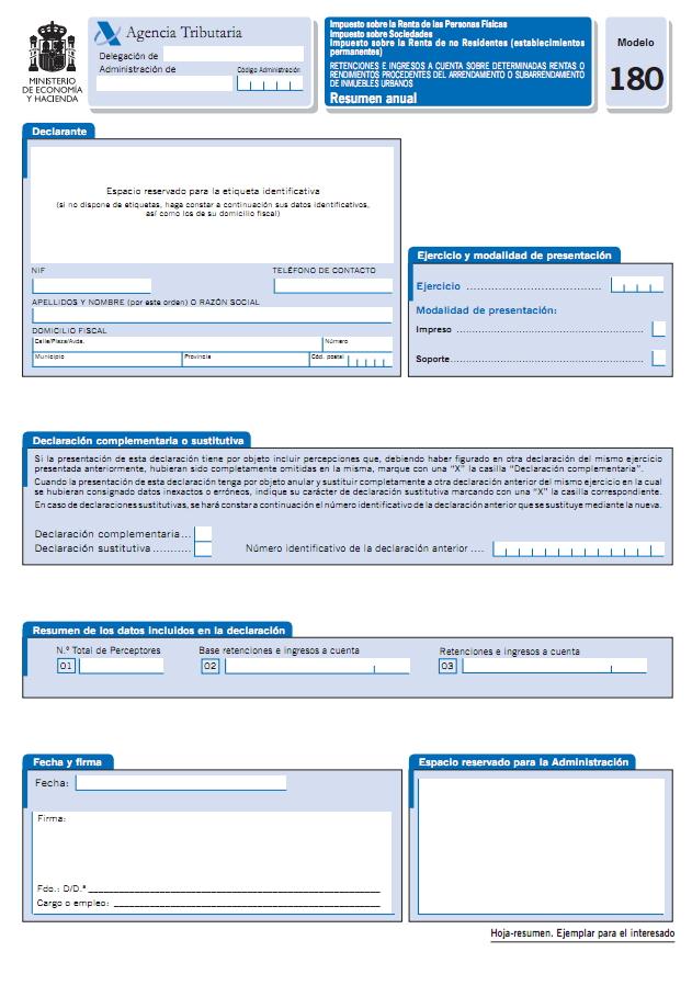 Certificados de retenciones de IRPF Supermercados la Plaza de DIA%