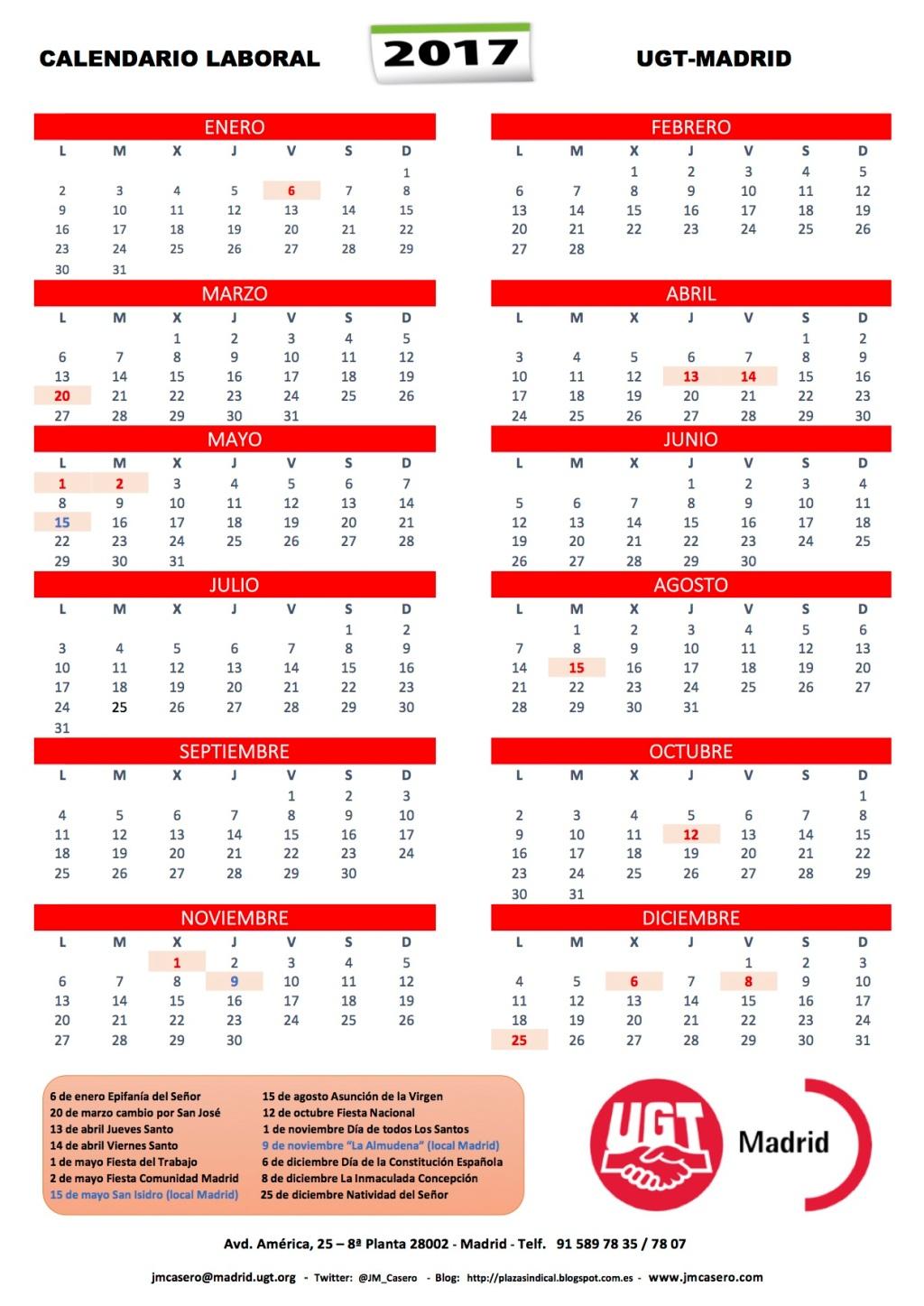 Fiestas laborales de madrid para el a o 2017 plaza sindical for Eventos madrid mayo 2017