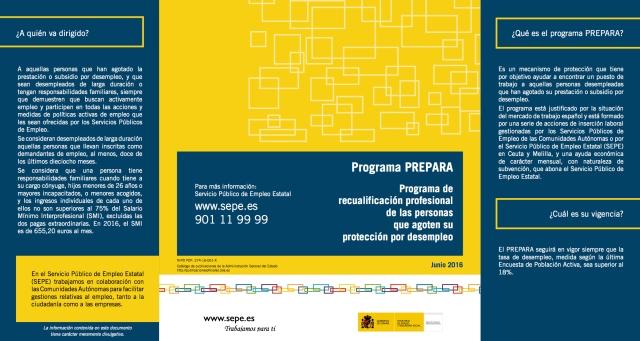 Programa PREPARA Programa de recualificación profesional de las personas que agoten su protección por desempleo