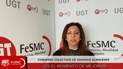 UGT consigue más derechos y más salario para los trabajadores de grandes almacenes