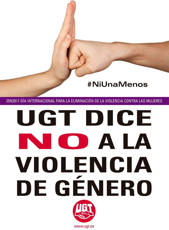 UGT dice NO a la violencia de género #NiUnaMenos