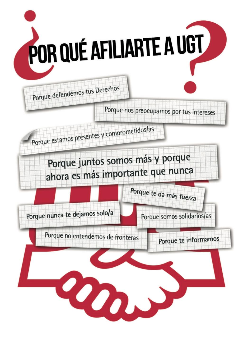 ¿Por qué afiliarse a UGT? compruébalo en esta estupenda Guía de Servicios para los Afiliad@s de UGT que ha realizado la federación de FeSP UGT Madrid.
