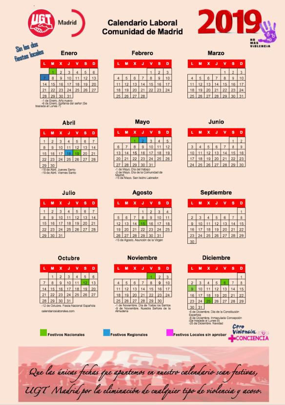 Seg Social Calendario Laboral.Calendario Laboral 2019 Seguridad Social