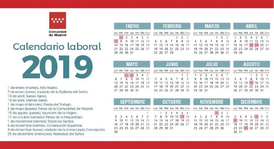Calendario Laboral 2018 Madrid