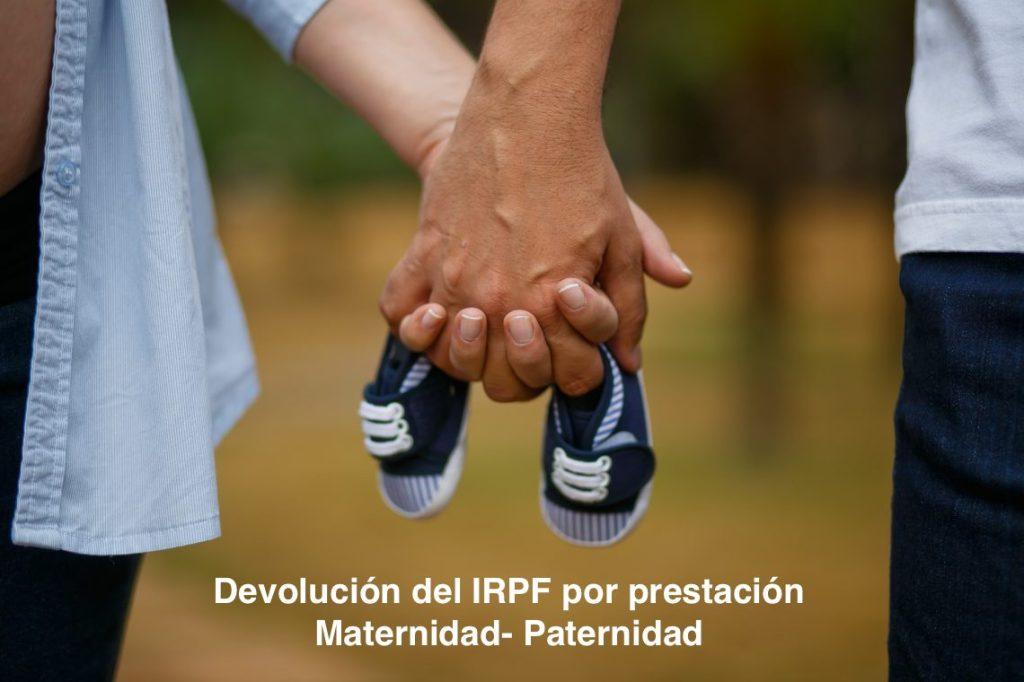 Resultado de imagen de devolución en el IRPF por las prestaciones de maternidad y paternidad
