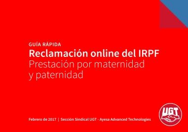 Guía rápida reclamación online IRPF