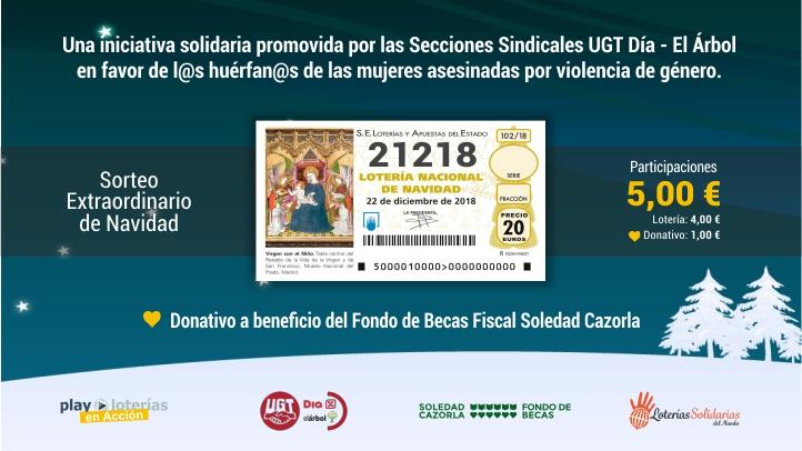 Loteria Solidaria UGT DÍA ÁRBOL