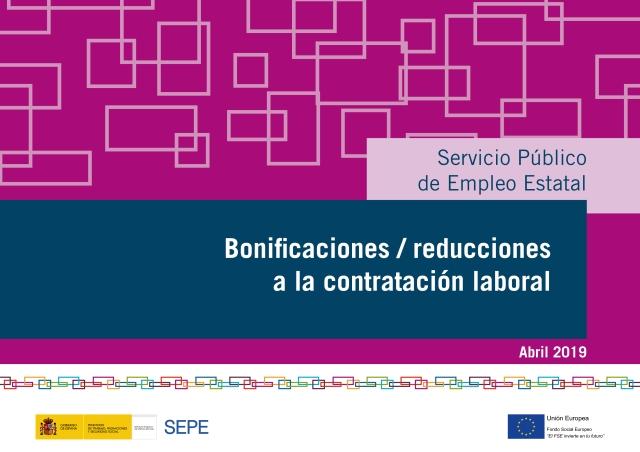 Guía de Bonificaciones / reducciones a la contratación laboral