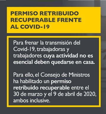 Las claves para entender el permiso retribuido recuperable Covid-19.