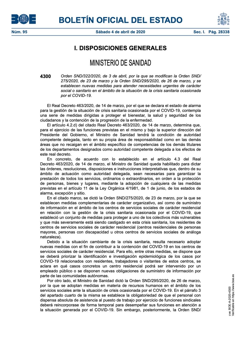 BOLETÍN OFICIAL DEL ESTADO Sábado 4 de abril de 2020.