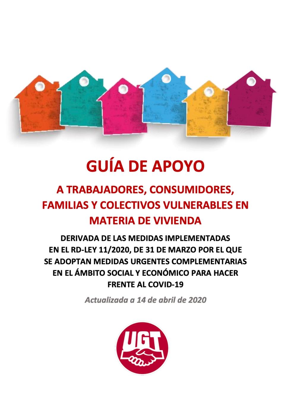 GUÍA DE APOYO A TRABAJADORES, CONSUMIDORES, FAMILIAS Y COLECTIVOS VULNERABLES EN MATERIA DE VIVIENDA