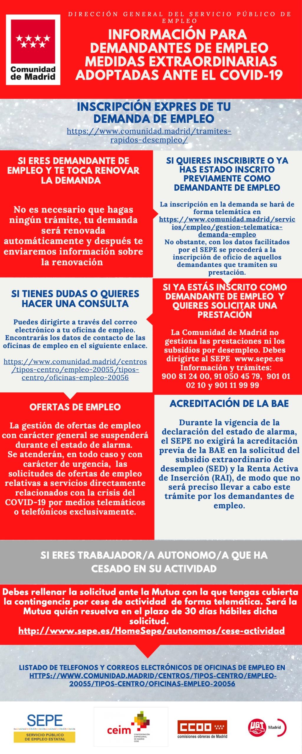 INFORMACIÓN PARA DEMANDANTES DE EMPLEO ANTE EL COVID-19 (1)