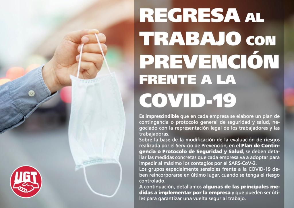 REGRESA AL TRABAJO CON PREVENCIÓN FRENTE A LA COVID-19