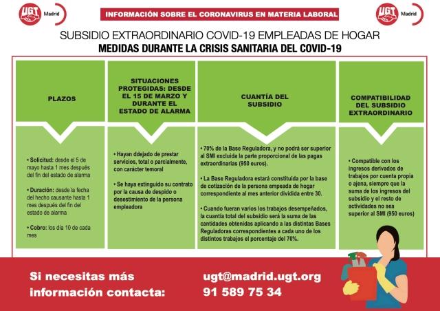 SUBSIDIO EXTRAORDINARIO COVID-19 EMPLEADAS DE HOGAR