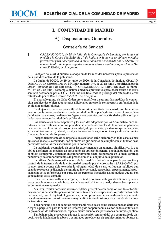 Medidas preventivas para hacer frente a la crisis sanitaria ocasionada por el COVID-19