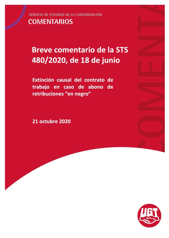 """Extinción causal del contrato de trabajo en caso de abono de retribuciones """"en negro"""""""