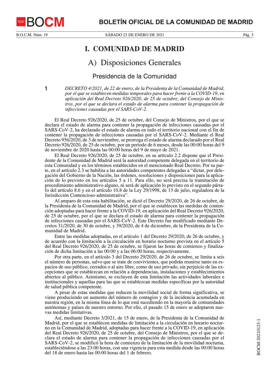 Medidas temporales para hacer frente a la COVID-19