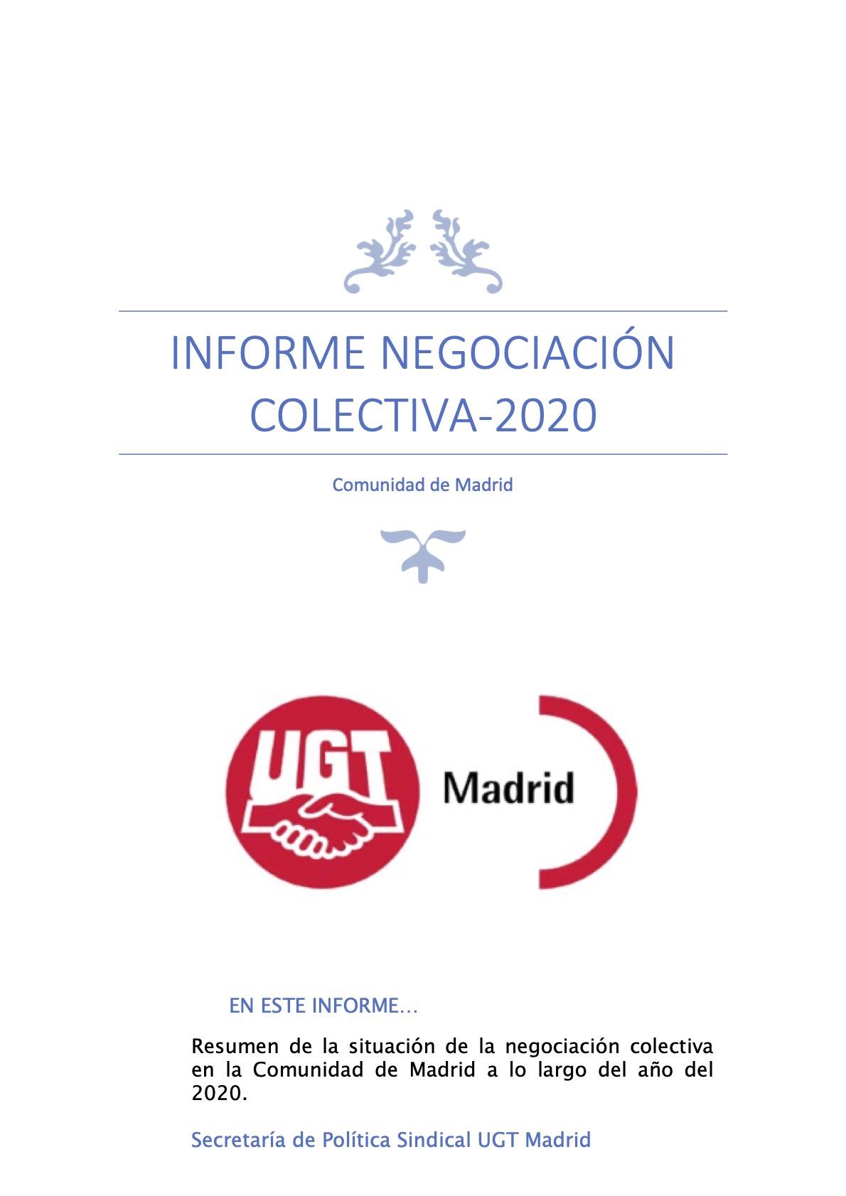 Informe Negociación Colectiva Año 2020