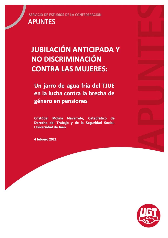 JUBILACIÓN ANTICIPADA Y NO DISCRIMINACIÓN CONTRA LAS MUJERES