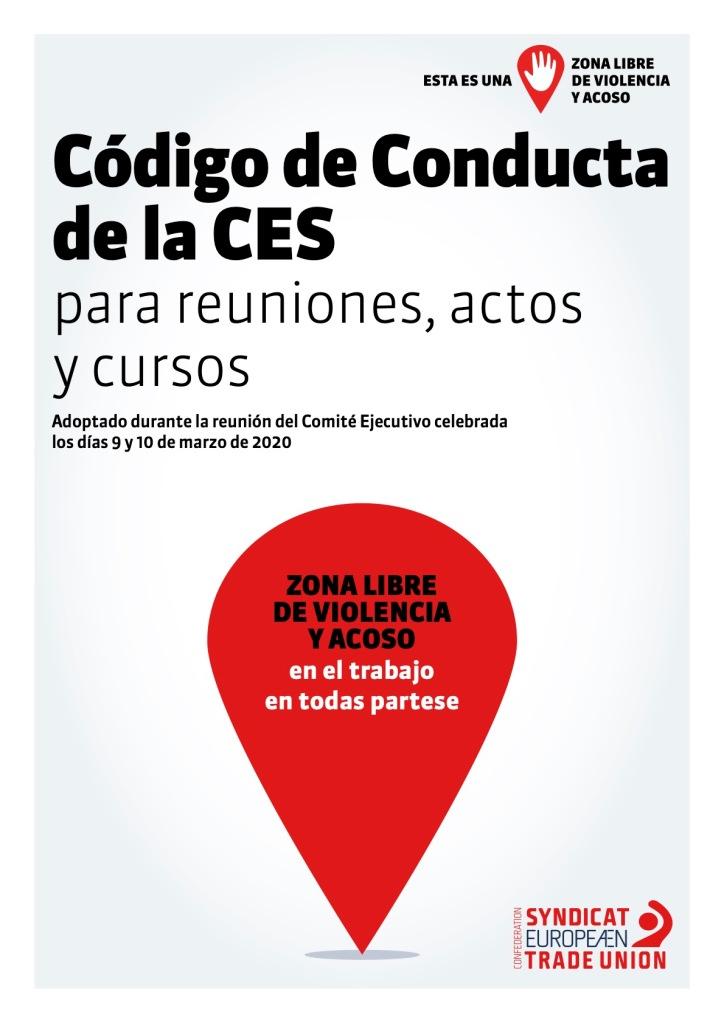 CÓDIGO DE CONDUCTA PARA REUNIONES, ACTOS Y CURSOS