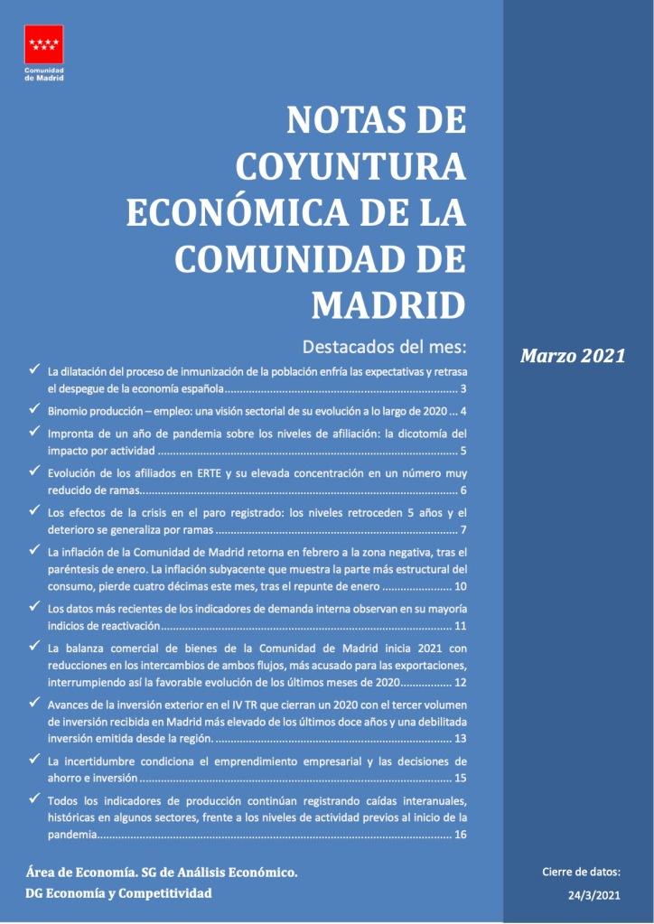 evolución de laafiliación media a la Seguridad Socialen el mes demarzo en la Comunidad de Madrid