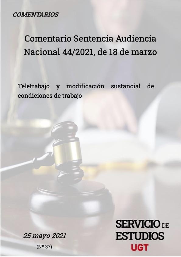 TELETRABAJO Y MODIFICACIÓN SUSTANCIAL DE CONDICIONES DE TRABAJO