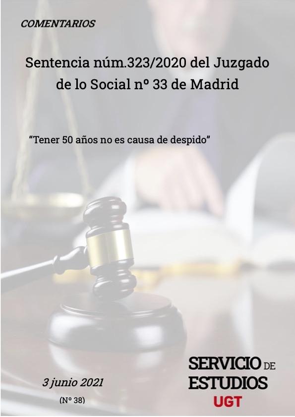Sentencia nº 323 Despidos discriminatorios por razón de edad