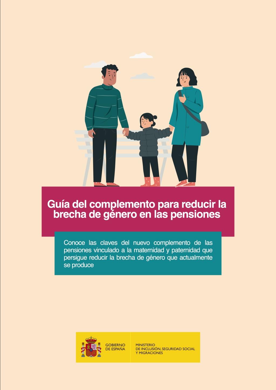 Guía del complemento para reducir la brecha de género en las pensiones