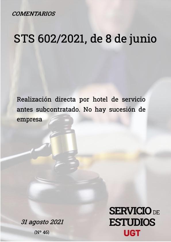 Realización directa por hotel de servicio antes subcontratado. No hay sucesión de empresa